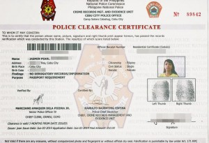 police clearance
